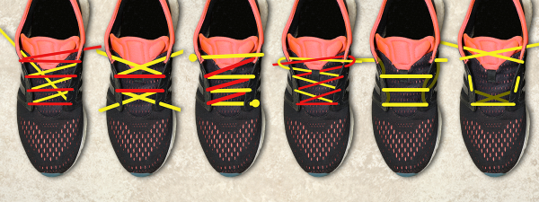 These six lacing types will get you across the finish line in first place